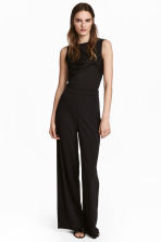 Wide trousers - Black - Ladies | H&M CA 1