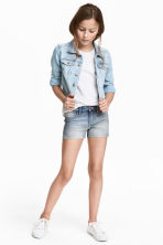 Short en jean - Bleu denim clair -  | H&M FR 1