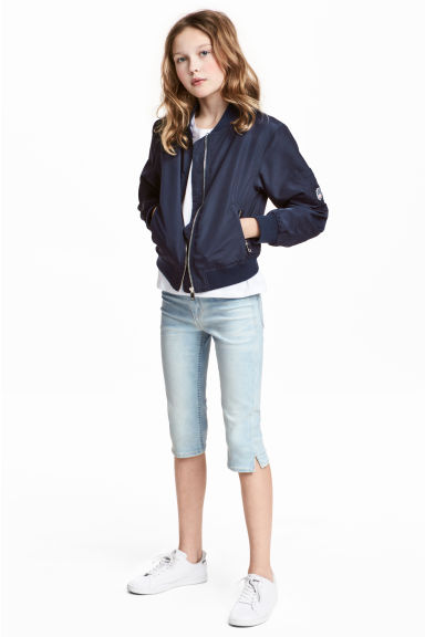 Skinny fit Capri Jeans - Blu denim sbiadito - BAMBINO | H&M IT 1