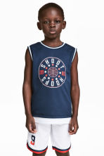 Basketball vest top - Dark blue - Kids | H&M CN 1