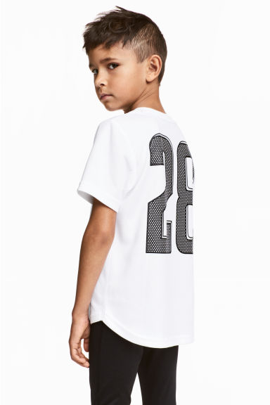 Short-sleeved sports top - White -  | H&M CN