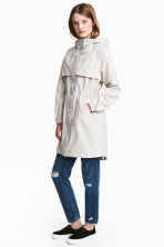 Nylon-blend parka - Light beige - Ladies | H&M CN 1