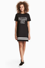 T-shirt dress - Black/Striped - Ladies | H&M 1