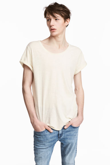 T-shirt in jersey flammé - Bianco naturale -  | H&M IT