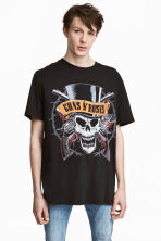 T-shirt with a print motif - Black/Guns N' Roses -  | H&M 1