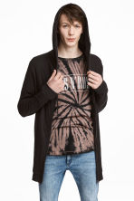 Fine-knit hooded jacket - Black - Men | H&M 1