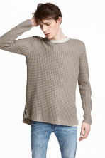 Textured-knit jumper - Mole-grey - Men | H&M 1