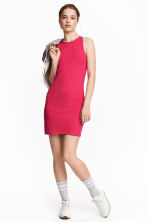 Sleeveless jersey dress - Cerise - Ladies | H&M 1