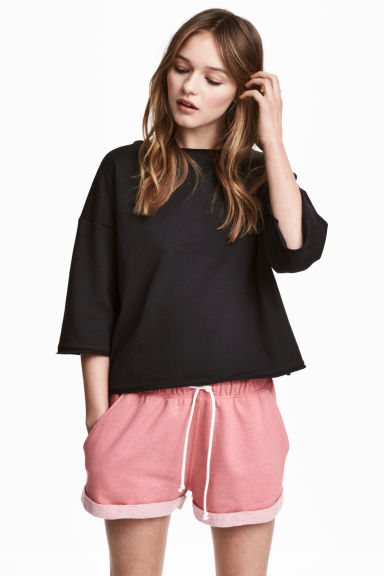 Sweatshirt top - Black - Ladies | H&M CN 1