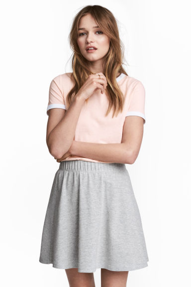 Short T-shirt - Powder pink - Ladies | H&M 1