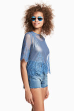 Lace top - Blue - Ladies | H&M CN 1