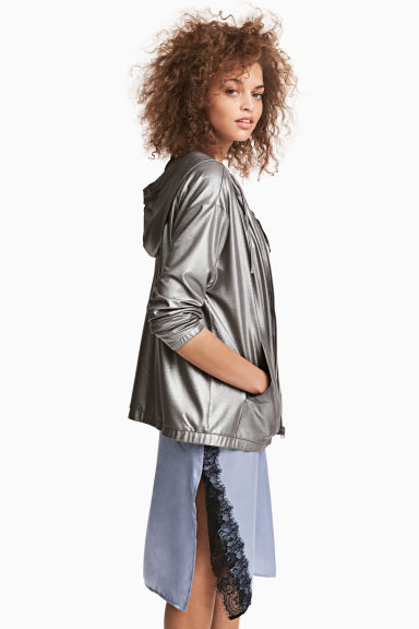 Shimmering hooded jacket