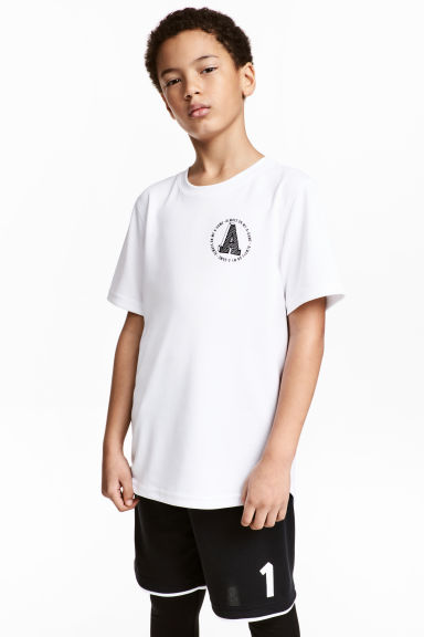 T-shirt training - Blanc - ENFANT | H&M FR 1