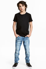 Relaxed Tapered Jeans - Light denim blue - Kids | H&M 1