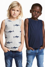 2-pack tops - Grey/Sharks -  | H&M CN 1