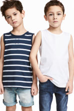 2-pack tops - Dark blue/Striped - Kids | H&M 1