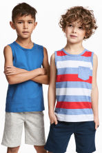 2-pack tops - Bright blue - Kids | H&M 1