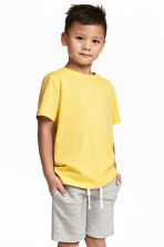 Cotton T-shirt - Yellow -  | H&M 1