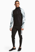 Running tights - Black/White/Patterned - Men | H&M 1