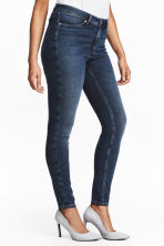 Feather Soft Low Jeggings - Dark denim blue - Ladies | H&M 1
