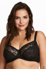 2-pack underwired bras E/F cup - Black - Ladies | H&M CN 1