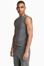 Seamless sports top - Dark grey marl - Men | H&M 1