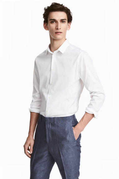 Stretch shirt Skinny fit - White - Men | H&M CN 1