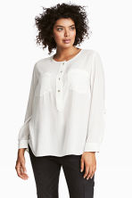 H&M+ Crêpe blouse - White - Ladies | H&M 1