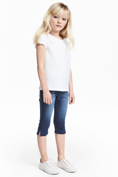 Leggings a tre quarti in denim - Blu denim - BAMBINO | H&M IT 1