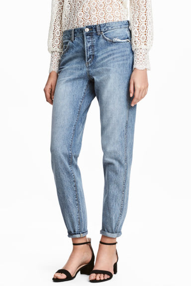 Boyfriend Low Ripped Jeans - Denim blue - Ladies | H&M
