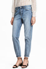 Boyfriend Low Ripped Jeans - Denim blue - Ladies | H&M 1
