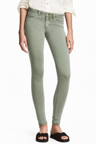 Feather Soft Low Jeggings - Dusky green - Ladies | H&M 1