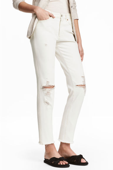 Vintage High Cropped Jeans - Blanco natural - MUJER | H&M ES 1