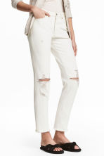 Vintage High Ankle Jeans - Écru -  | H&M BE 1