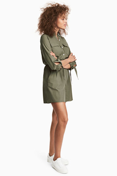 Playsuit - Khaki green - Ladies | H&M 1