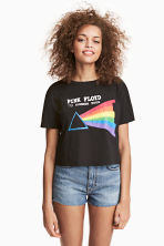 Short T-shirt - Black/Pink Floyd - Ladies | H&M 1