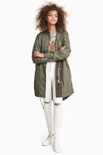 Cotton parka - Khaki green - Ladies | H&M CN 1