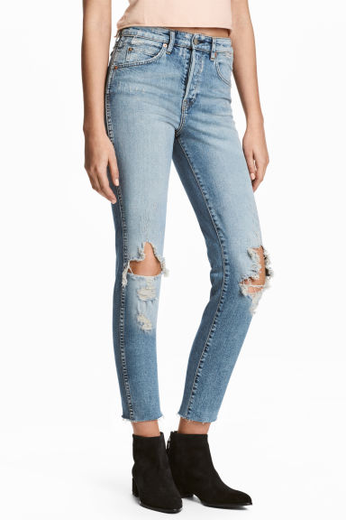 Slim High Cropped Jeans Model