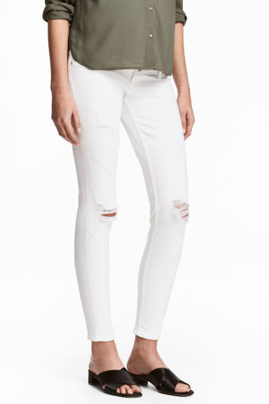 MAMA Skinny Ankle Jeans - Wit denim - DAMES | H&M BE 1