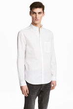 Cotton shirt Regular fit - White - Men | H&M CN 1