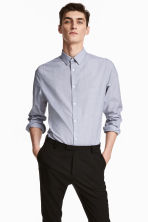 Camicia easy-iron Slim fit - Grigio/chambray - UOMO | H&M IT 1