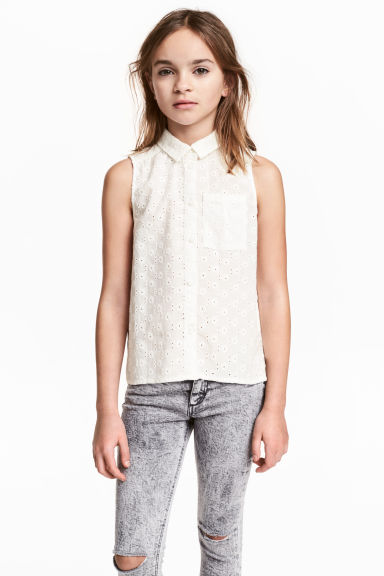 無袖女衫 - White - Kids | H&M 1