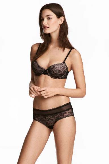 Mesh hipster briefs - Black/Brown - Ladies | H&M CN 1