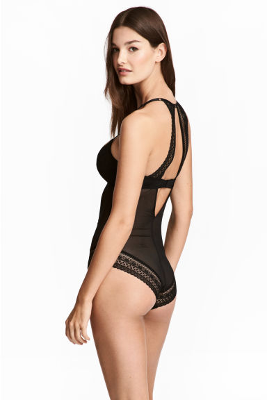 Body in pizzo con push-up - Nero - DONNA | H&M IT 1