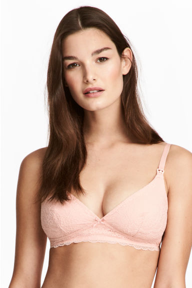MAMA 2-pack lace nursing bras - Old rose - Ladies | H&M 1