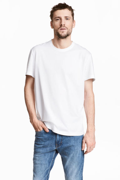 Pima cotton T-shirt - White - Men | H&M CN 1