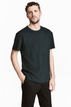 Pima cotton T-shirt - Black - Men | H&M 1