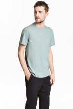Cotton and silk T-shirt - Light petrol - Men | H&M 1