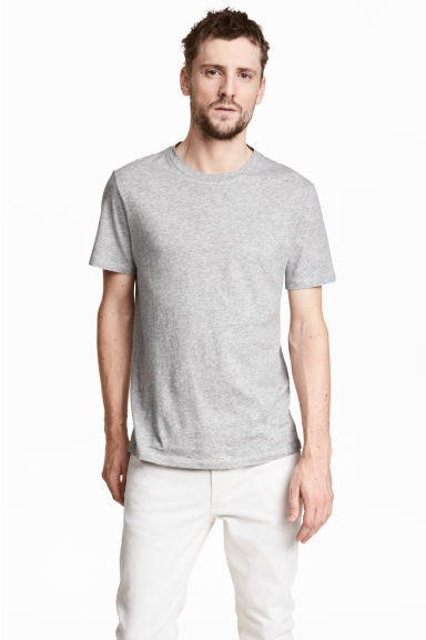 Cotton and silk T-shirt