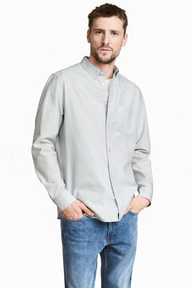Pima cotton Oxford shirt Model